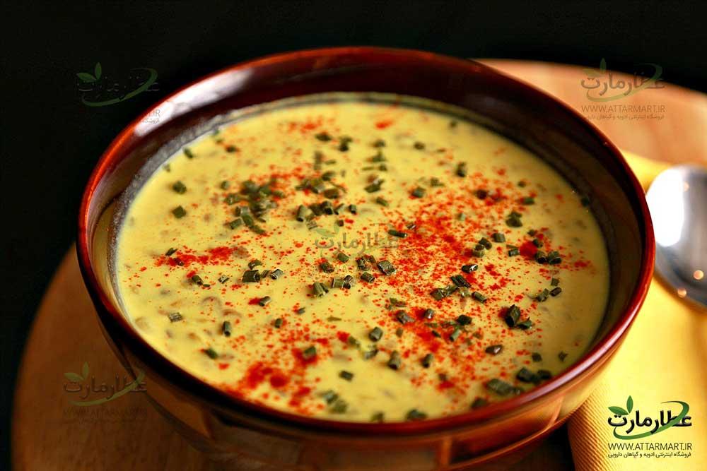 سوپ ماست زردچوبه