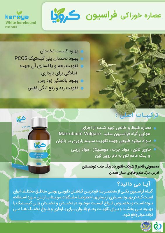 اینفوگرافیک اطلاعات عصاره گیاهی فراسیون