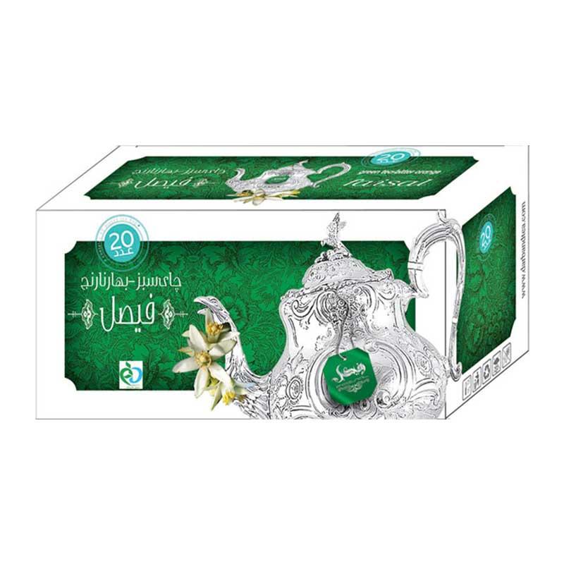 دمنوش چای سبز بهار نارنج فیصل دربند