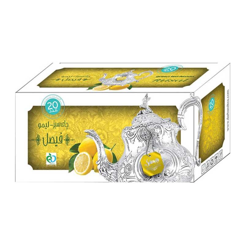 دمنوش چای سبز لیمو فیصل دربند