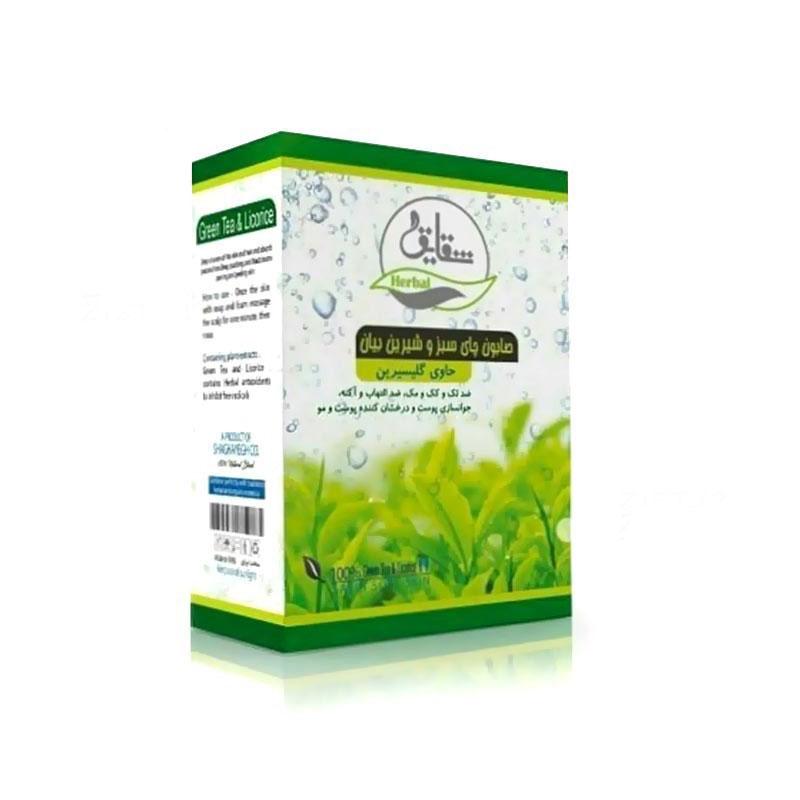 صابون سنتی چای سبز وشیرین بیان شقایق
